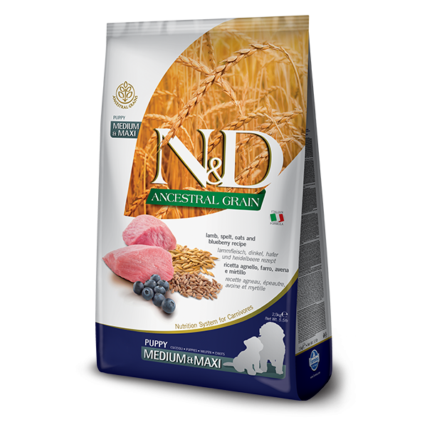 ND Ancestral Grain Dog Lamb and Blueberry Puppy Medium and Maxi 12 kg